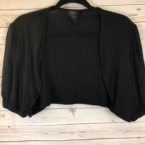 Igigi short sleeve shrug bolero black 14/16 1x